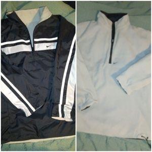 Vintage nike Reversible fleece 1/4 zip Pullover